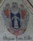 Virginia Eriksdotters vapen i Birgitta Kyrkan, Ohlshammar